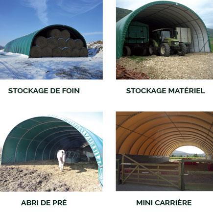 Acheter un tunnel de stockage horse stop for Abri de stockage agricole