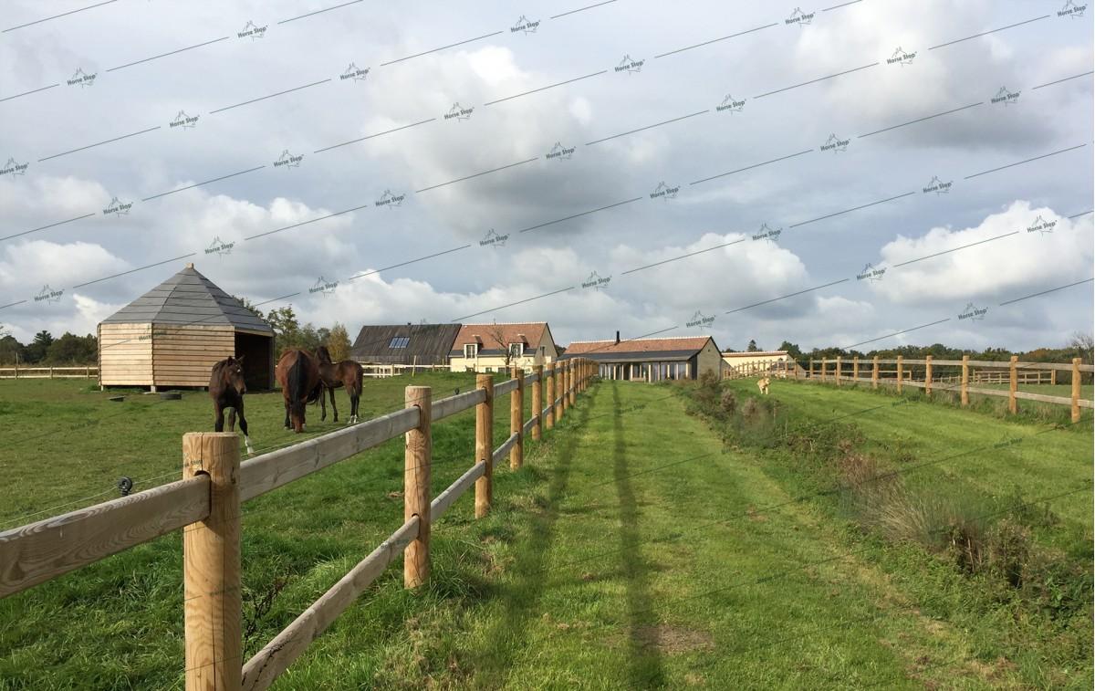 Cl u00f4ture boisÉlégance sur mesure Horse Stop # Cloture Bois Chevaux