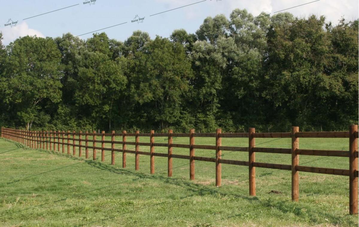 Cl u00f4ture boisÉlégance sur mesure Horse Stop # Cloture Bois Chevaux Creosote