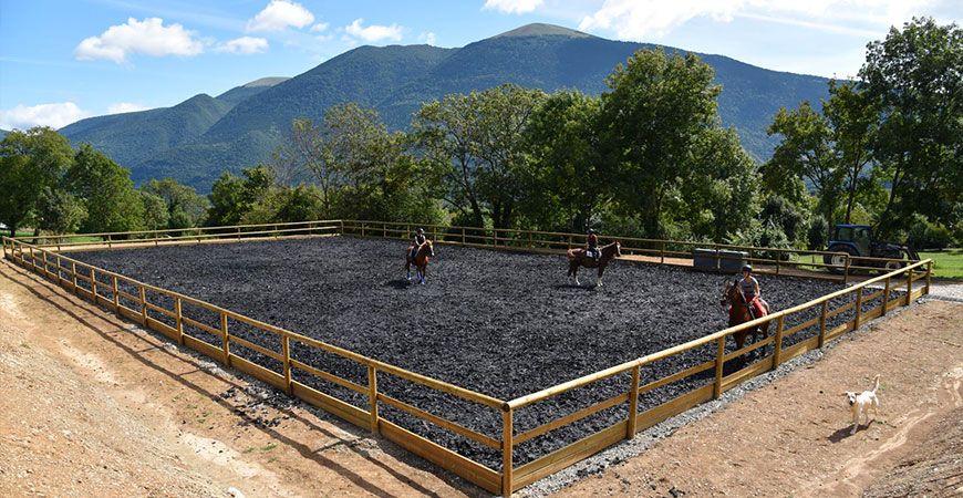 Carrière Amortisol pour pension chevaux