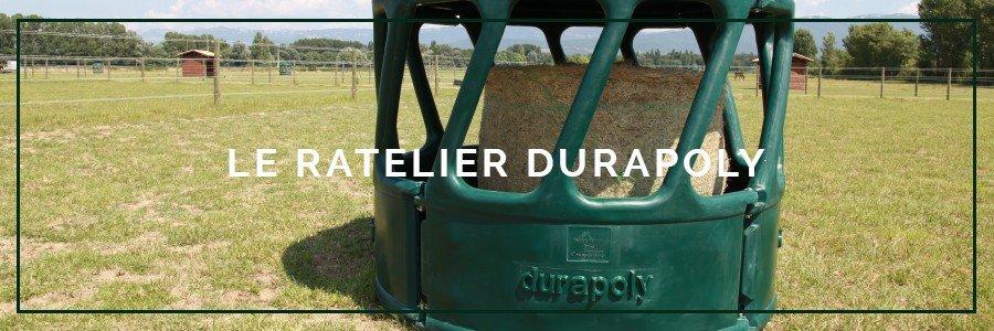 ratelier chevaux vert durapoly
