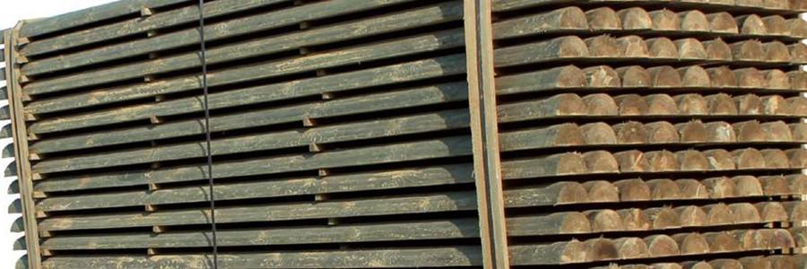 Demi rondin bois autoclave horse stop for Demi rondin bois brico depot