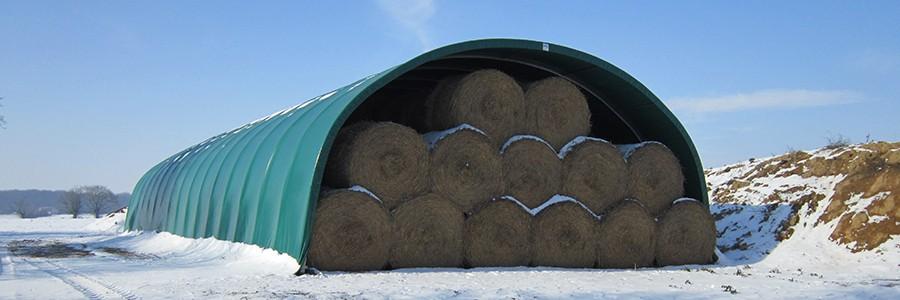 tunnel de stockage de foin fourrage