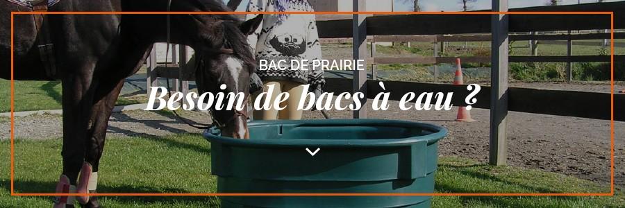 Bac à eau pour chevaux dans les parcs et prairies