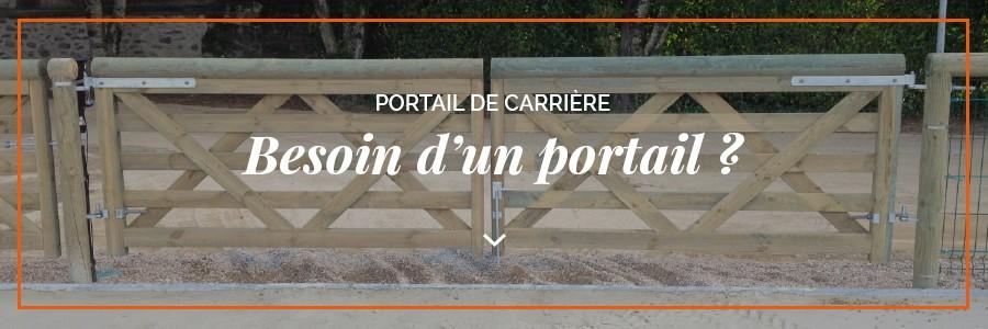 portail barriere de carriere equestre